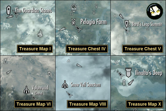 Treasure Map X Skyrim GameBanshee